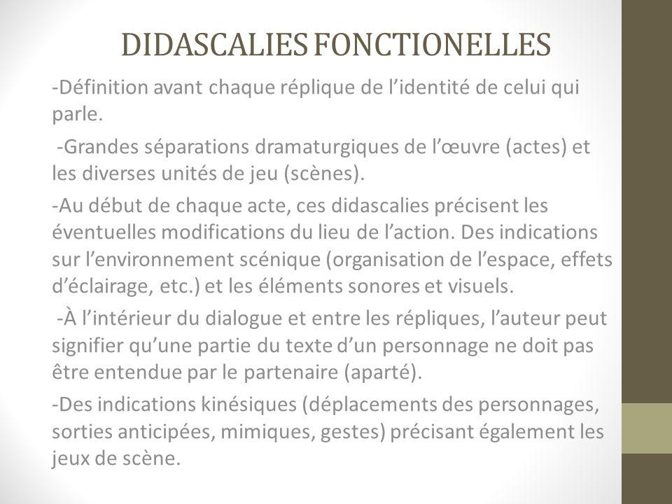 Didascalies fonctionelles