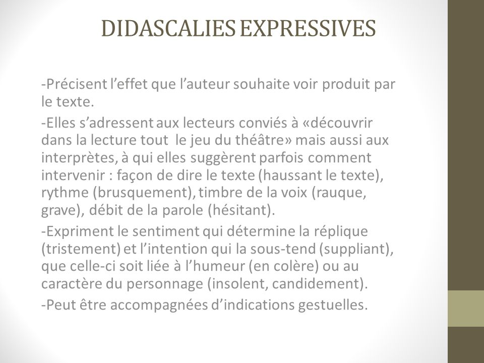 Didascalies expressives