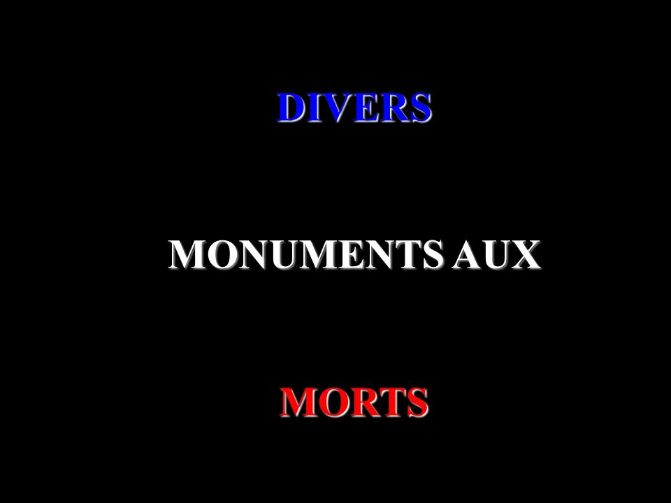 DIVERS MONUMENTS AUX MORTS