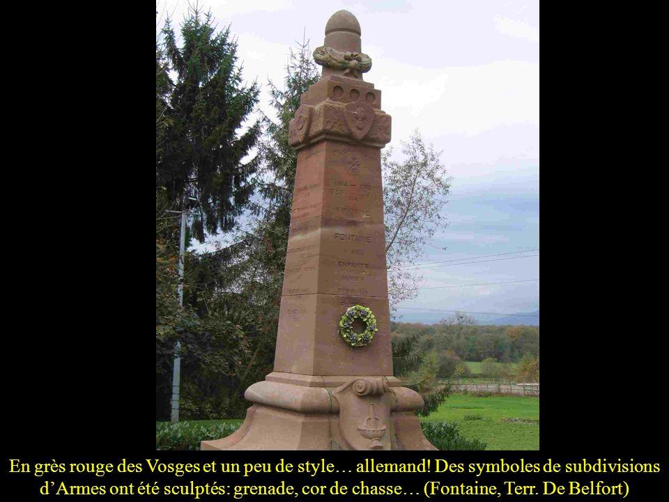 En grès rouge des Vosges et un peu de style… allemand