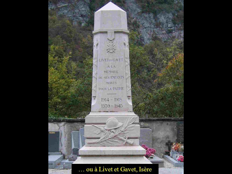 … ou à Livet et Gavet, Isère