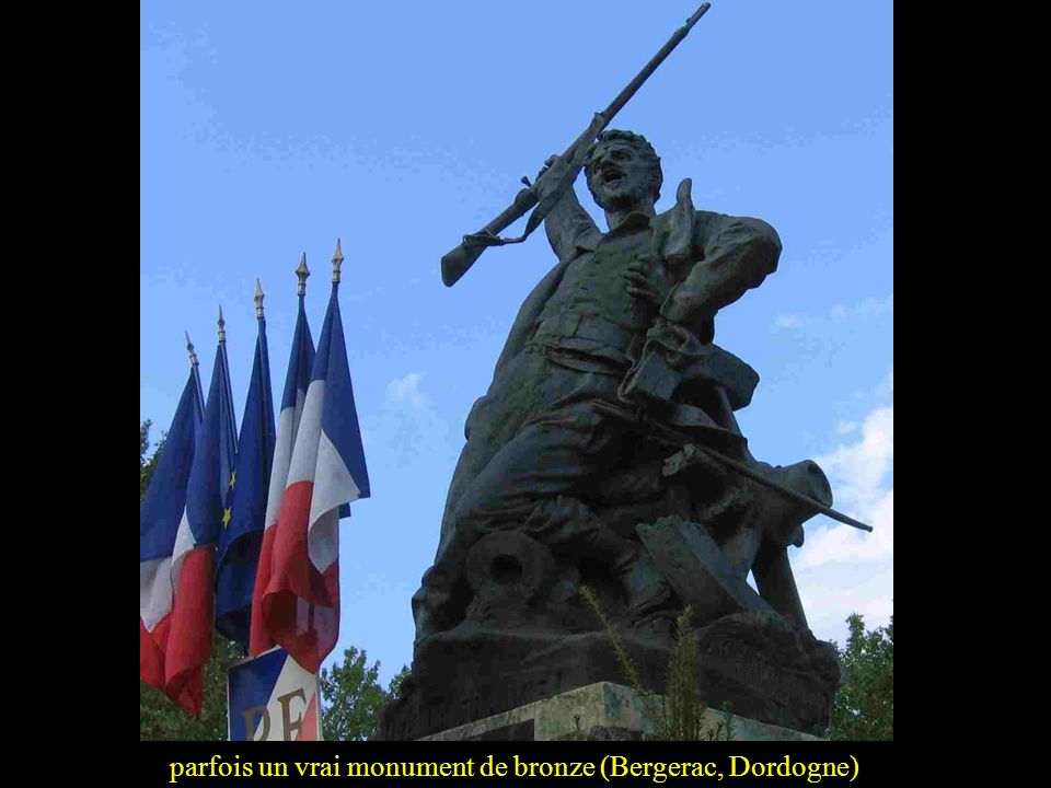 parfois un vrai monument de bronze (Bergerac, Dordogne)