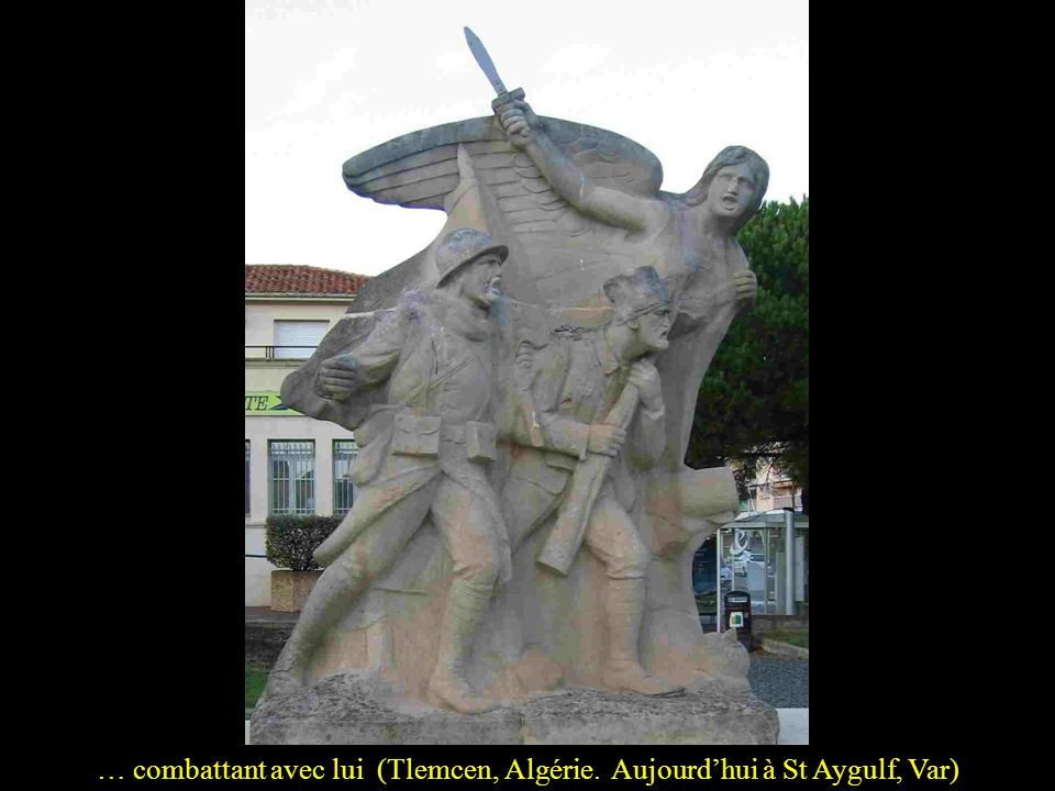 … combattant avec lui (Tlemcen, Algérie. Aujourd'hui à St Aygulf, Var)