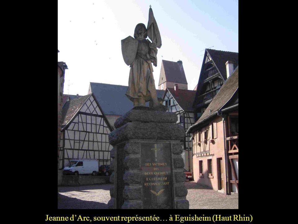 Jeanne d'Arc, souvent représentée… à Eguisheim (Haut Rhin)