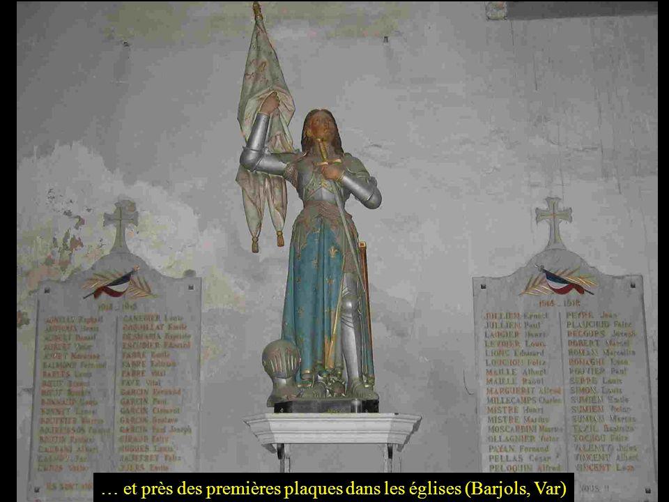 … et près des premières plaques dans les églises (Barjols, Var)