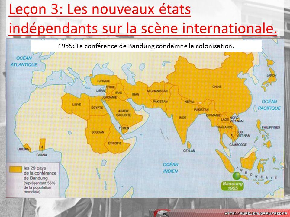 Leçon 3: Les nouveaux états indépendants sur la scène internationale.