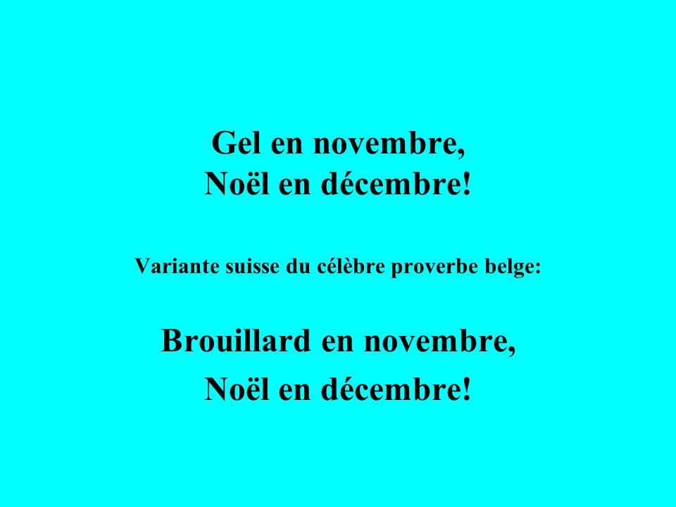 Gel en novembre, Noël en décembre!