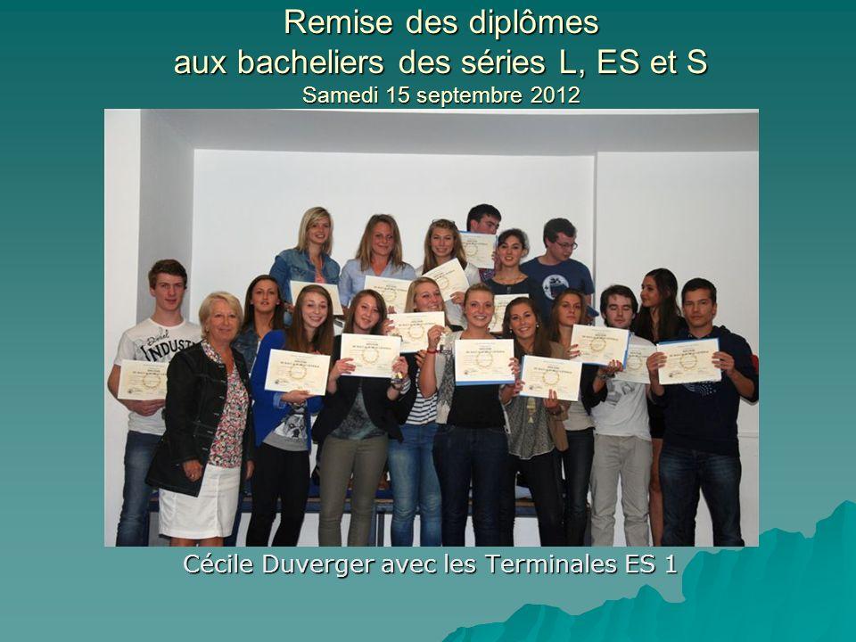 Cécile Duverger avec les Terminales ES 1