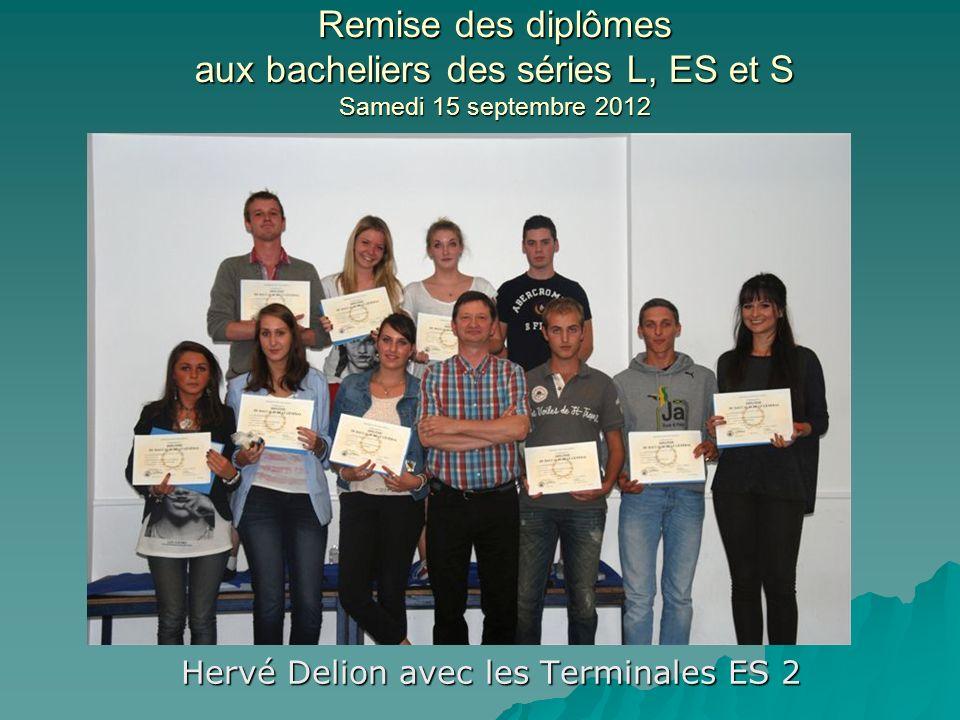 Hervé Delion avec les Terminales ES 2