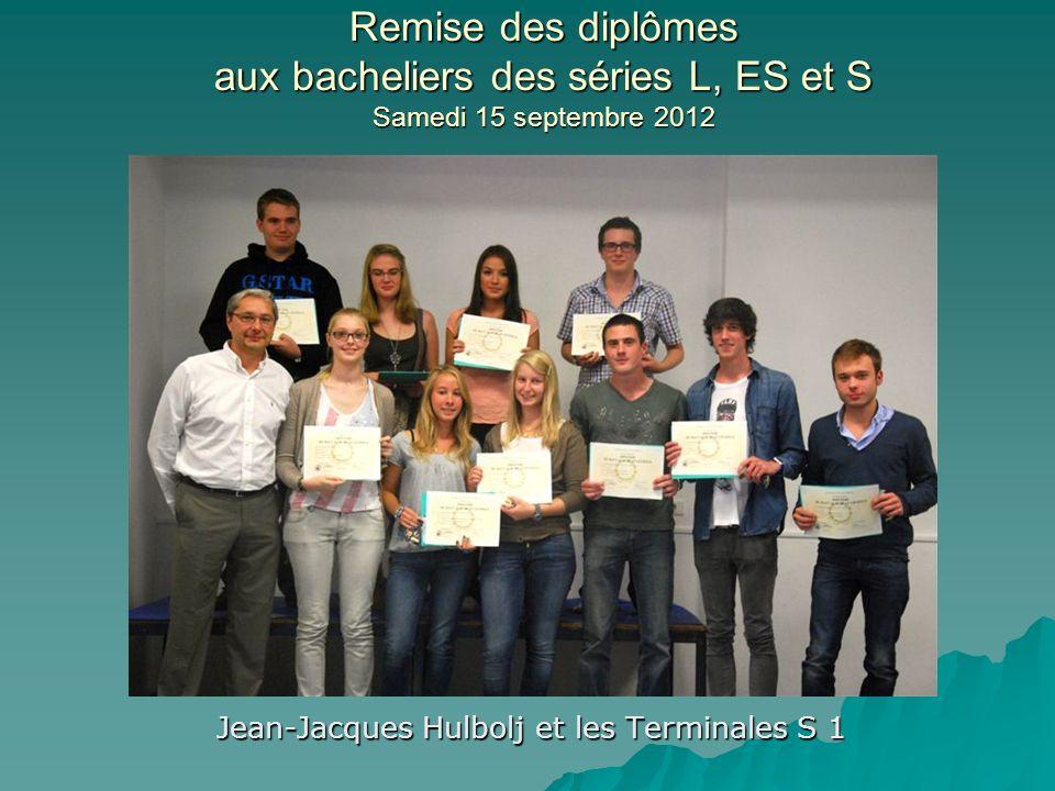 Jean-Jacques Hulbolj et les Terminales S 1