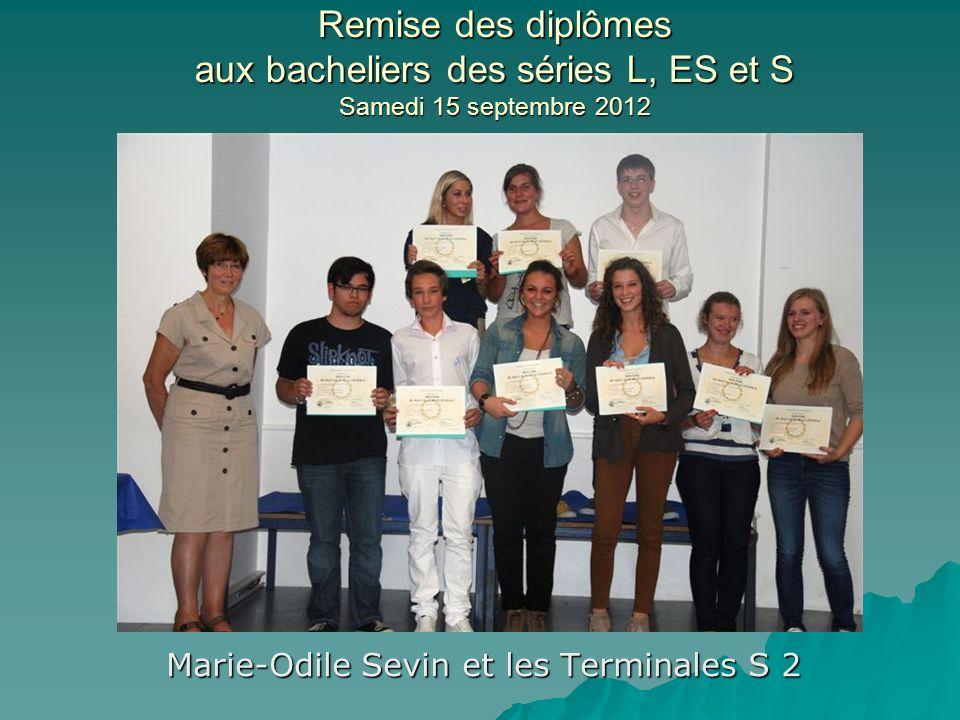 Marie-Odile Sevin et les Terminales S 2