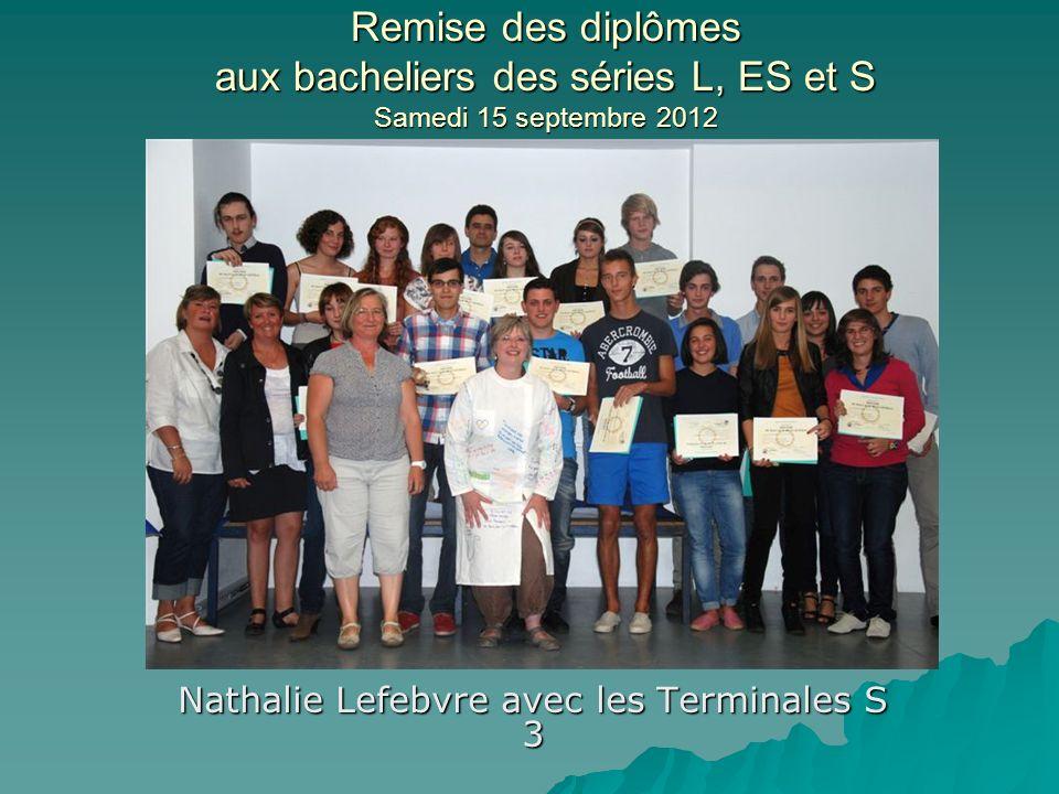 Nathalie Lefebvre avec les Terminales S 3