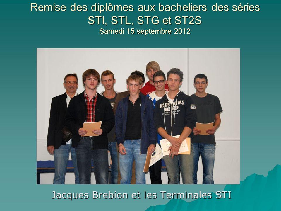 Jacques Brebion et les Terminales STI
