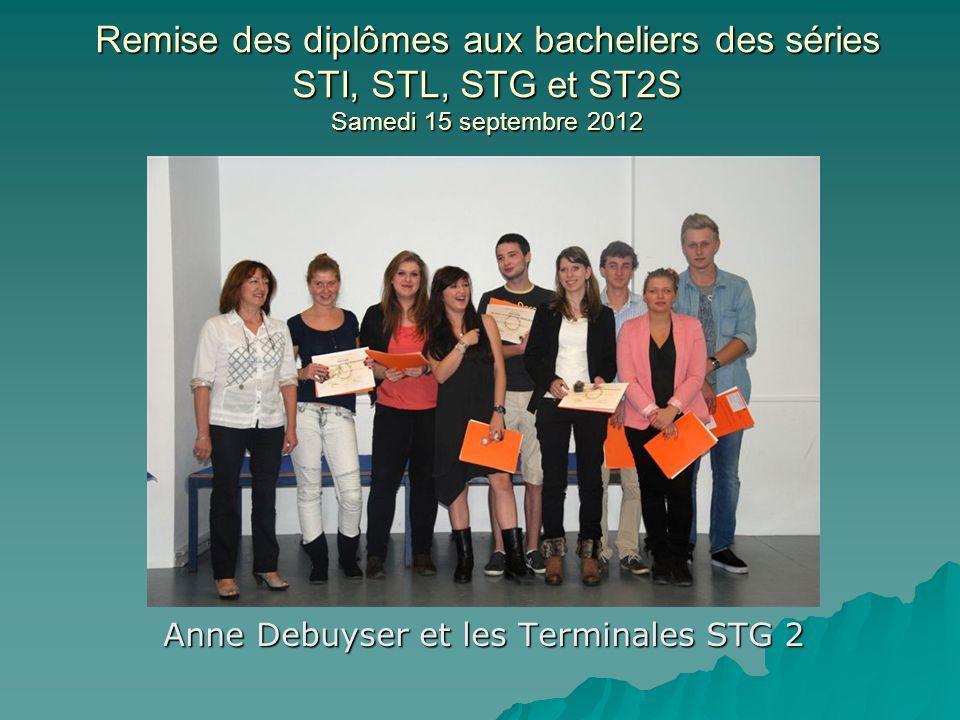 Anne Debuyser et les Terminales STG 2