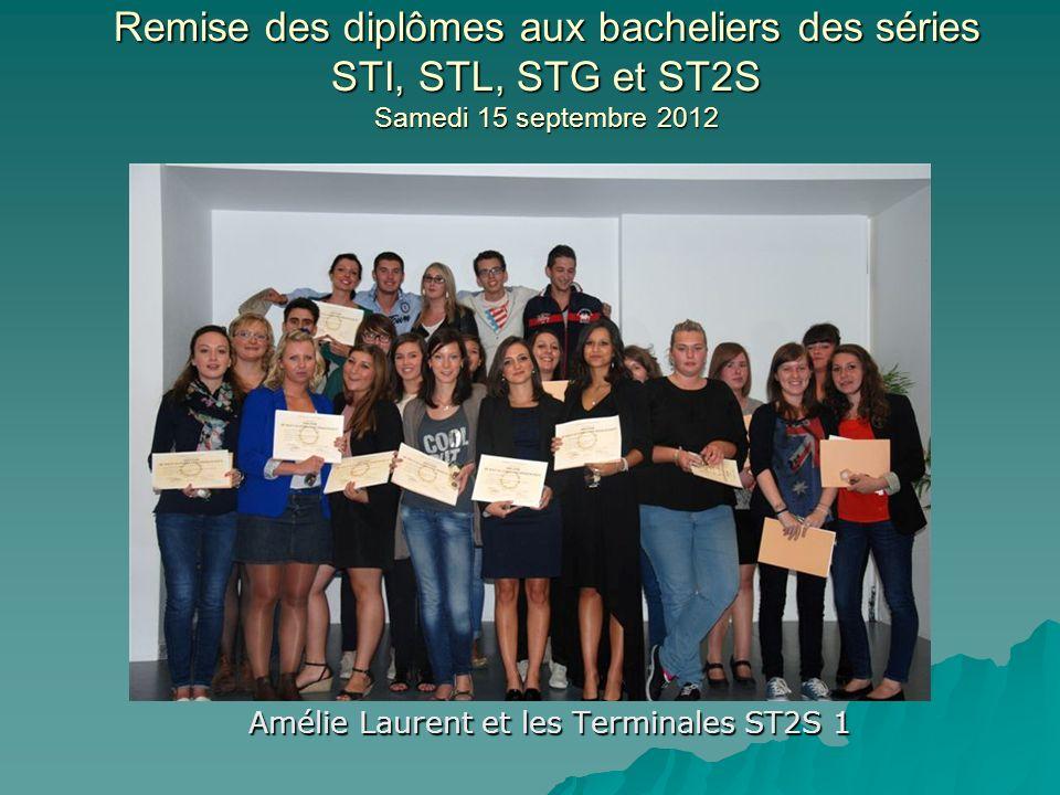 Amélie Laurent et les Terminales ST2S 1
