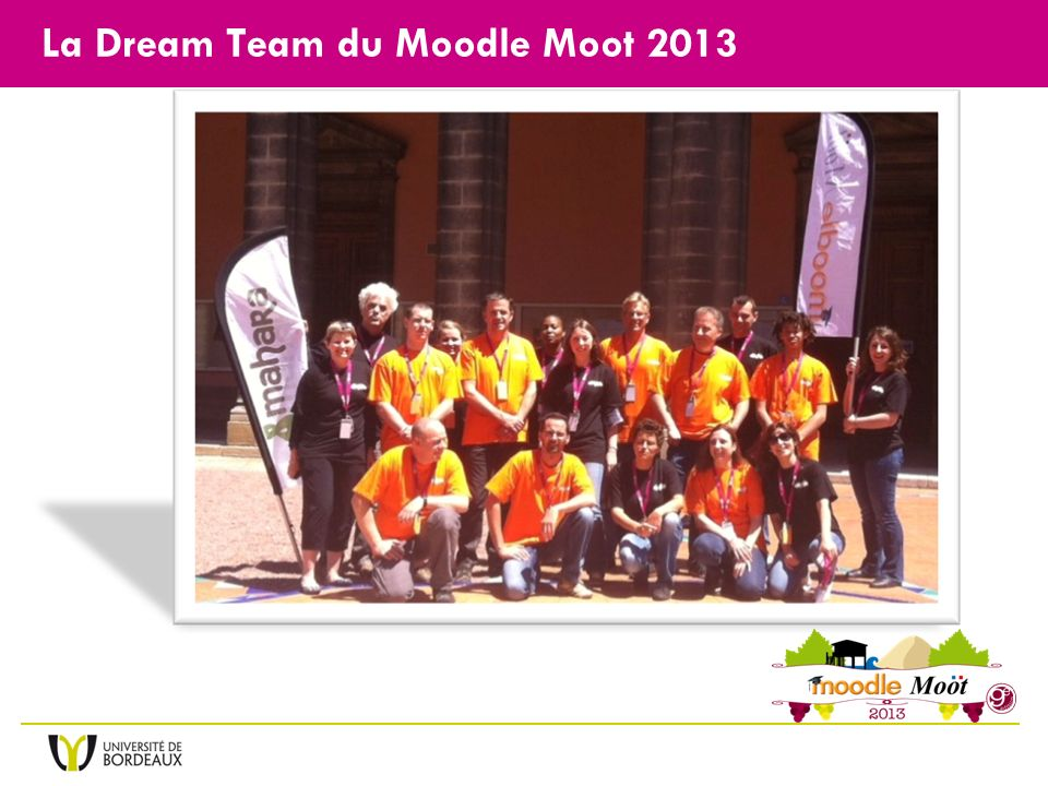 La Dream Team du Moodle Moot 2013