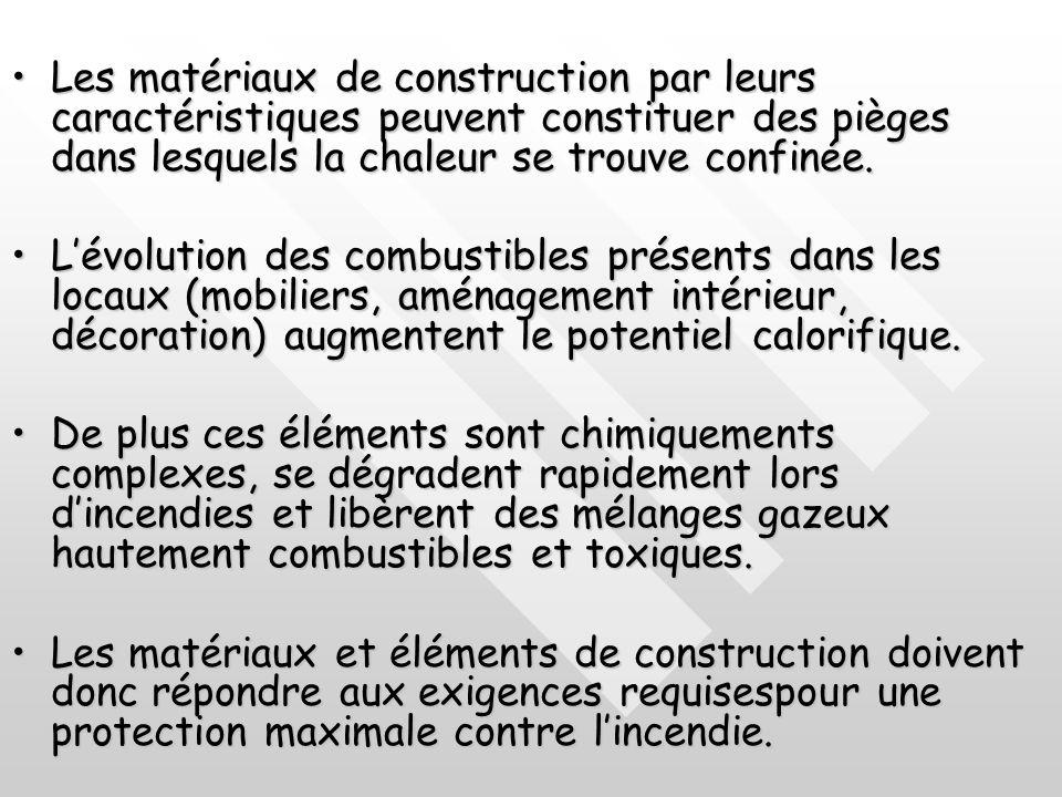 Les matériaux de construction par leurs caractéristiques peuvent constituer des pièges dans lesquels la chaleur se trouve confinée.
