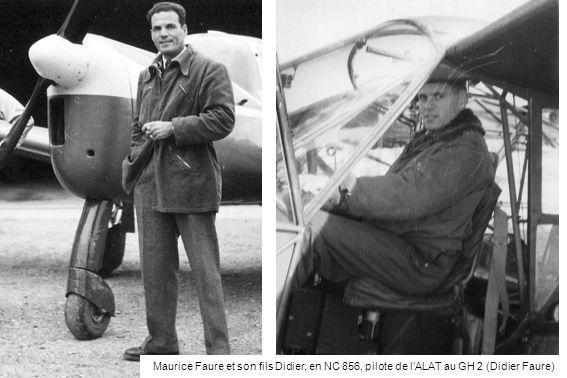 Maurice Faure et son fils Didier, en NC 856, pilote de l'ALAT au GH 2 (Didier Faure)