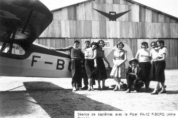 Séance de baptêmes avec le Piper PA-12 F-BCPQ (Aline Pascal)