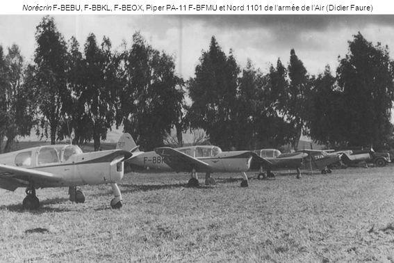 Norécrin F-BEBU, F-BBKL, F-BEOX, Piper PA-11 F-BFMU et Nord 1101 de l'armée de l'Air (Didier Faure)