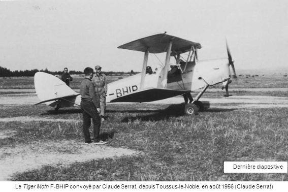 Dernière diapositive Le Tiger Moth F-BHIP convoyé par Claude Serrat, depuis Toussus-le-Noble, en août 1956 (Claude Serrat)