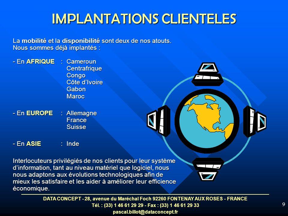 IMPLANTATIONS CLIENTELES