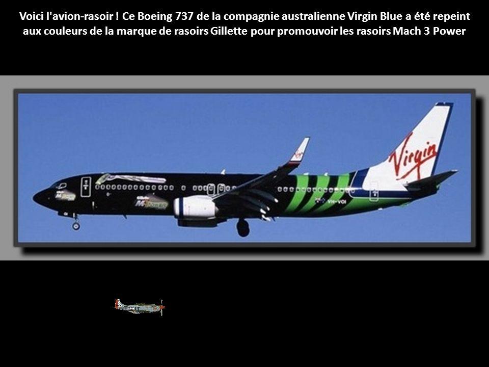 Voici l avion-rasoir ! Ce Boeing 737 de la compagnie australienne Virgin Blue a été repeint