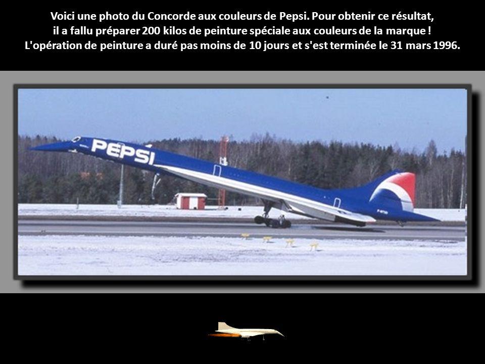 Voici une photo du Concorde aux couleurs de Pepsi