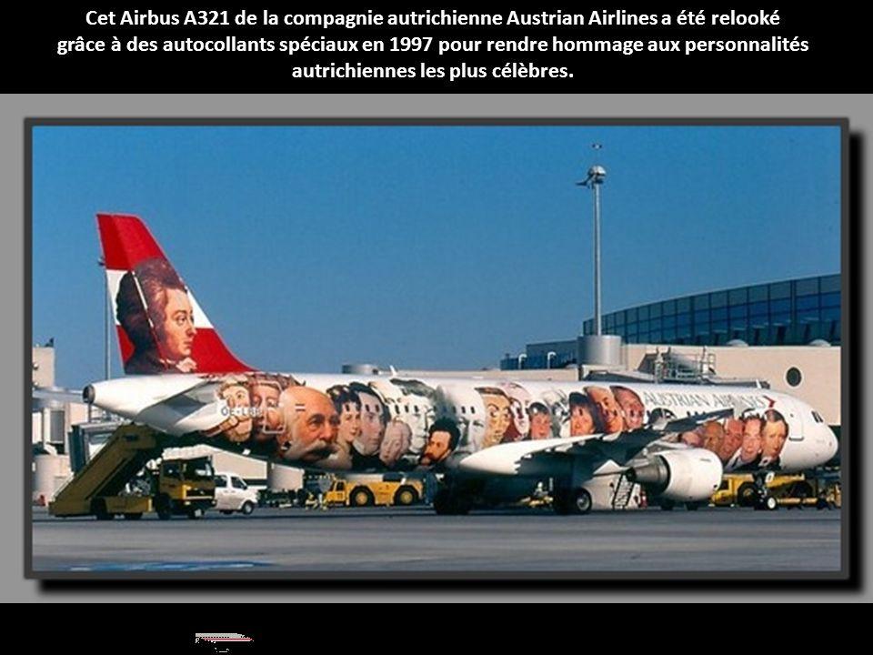 Cet Airbus A321 de la compagnie autrichienne Austrian Airlines a été relooké