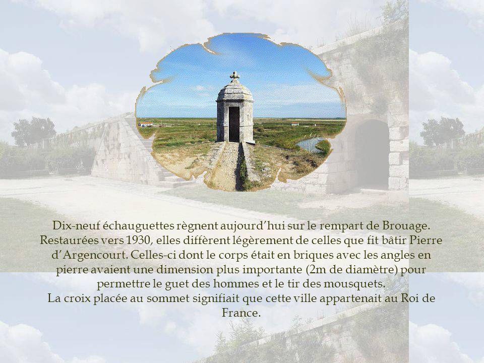 Dix-neuf échauguettes règnent aujourd'hui sur le rempart de Brouage
