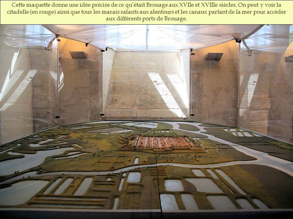 Cette maquette donne une idée précise de ce qu'était Brouage aux XVIIe et XVIIIe siècles.