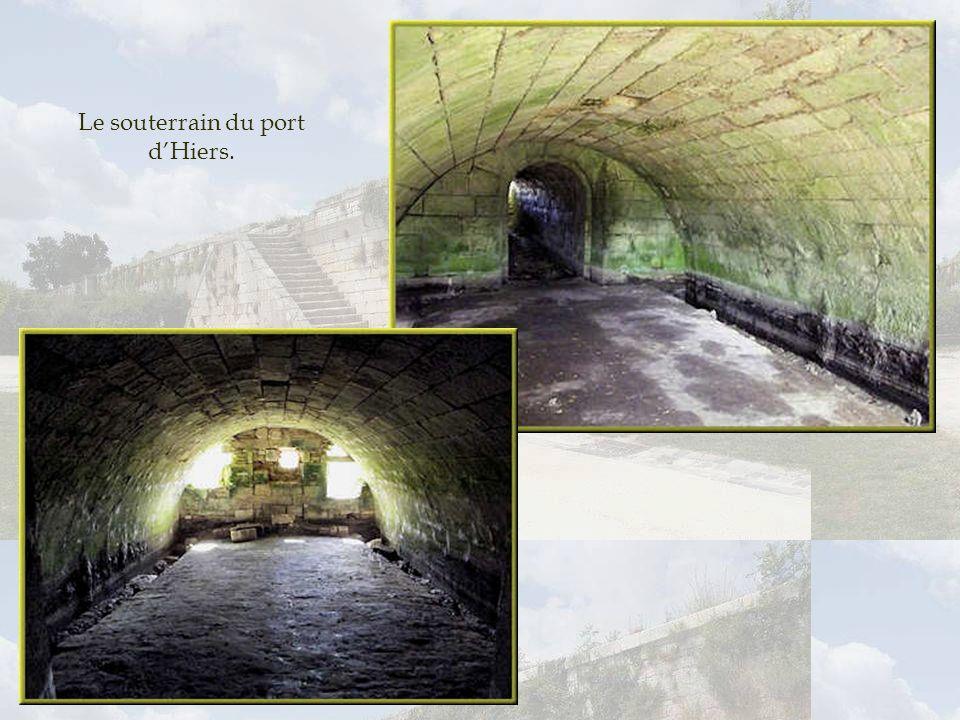 Le souterrain du port d'Hiers.