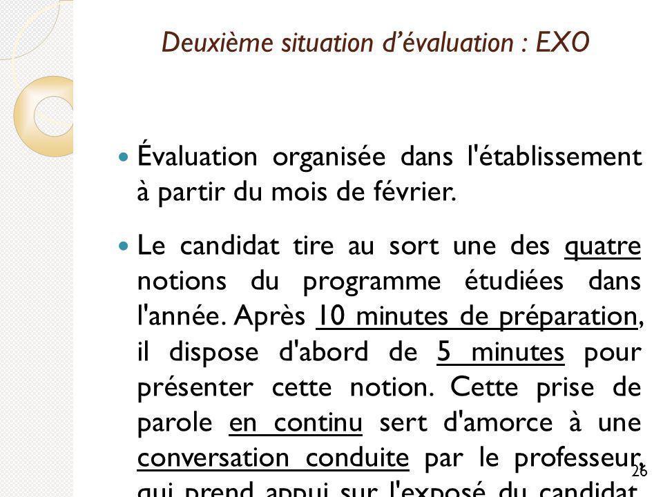 Deuxième situation d'évaluation : EXO