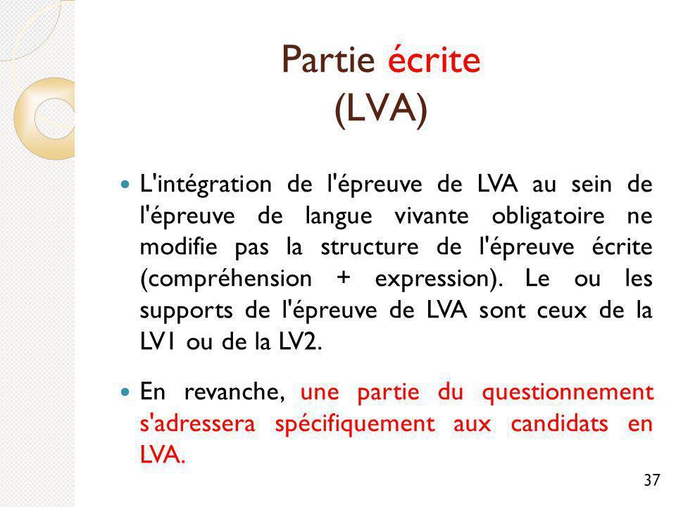 Partie écrite (LVA)
