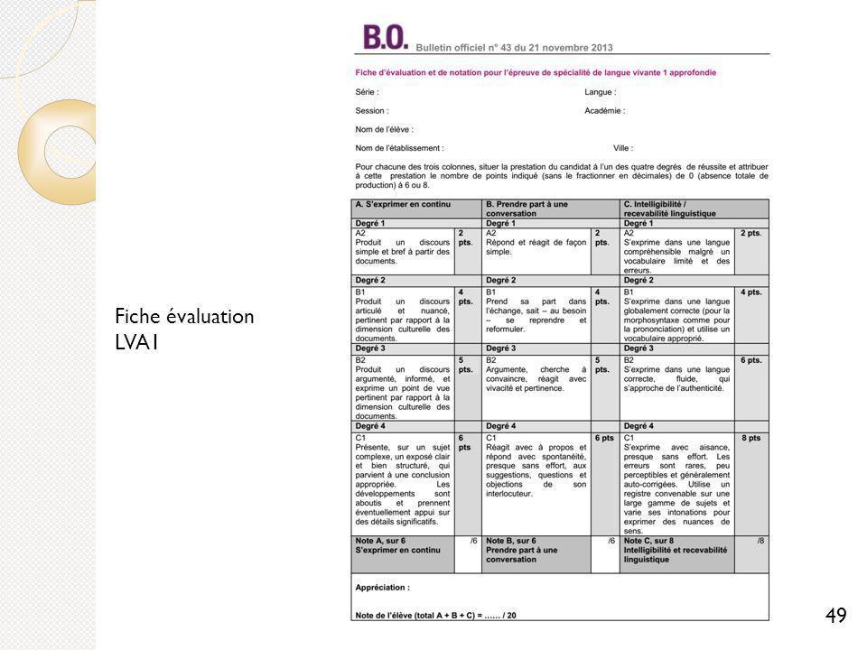 Fiche évaluation LVA1 49