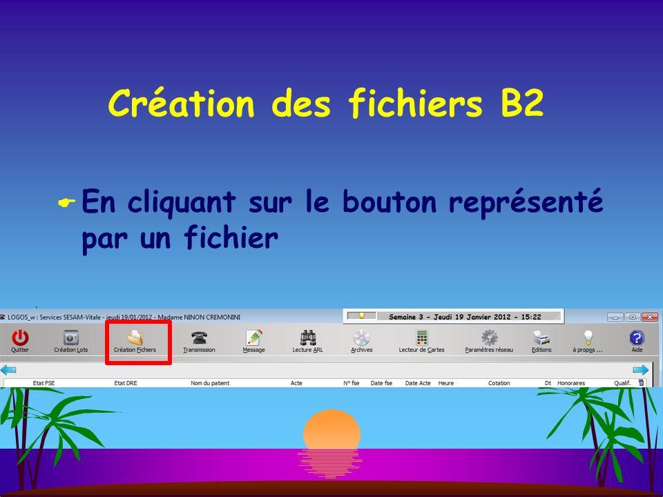 Création des fichiers B2