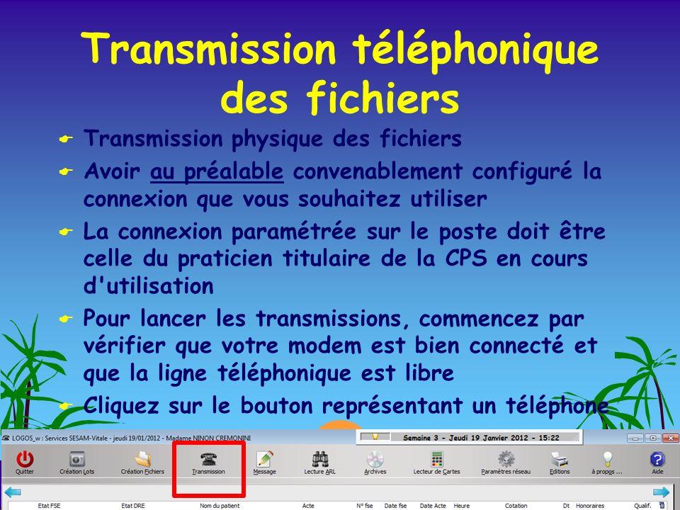 Transmission téléphonique des fichiers