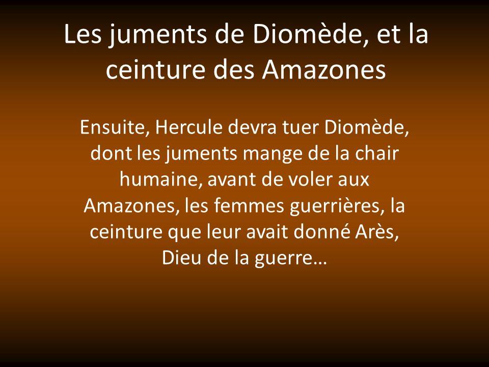 Les juments de Diomède, et la ceinture des Amazones