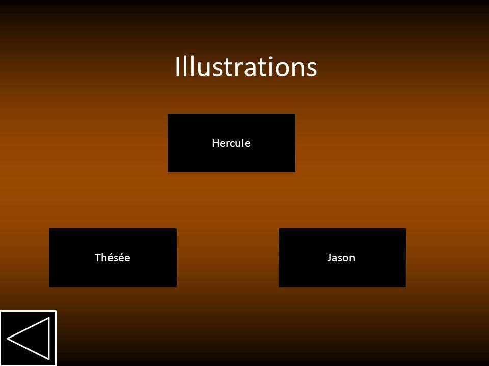 Illustrations Hercule Thésée Jason
