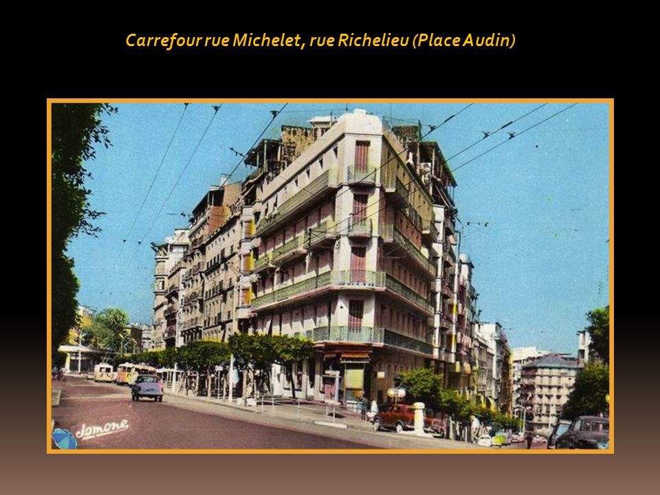 Carrefour rue Michelet, rue Richelieu (Place Audin)