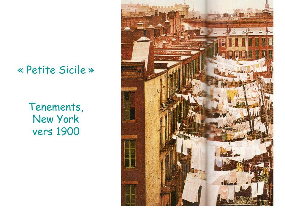 « Petite Sicile » Tenements, New York vers 1900