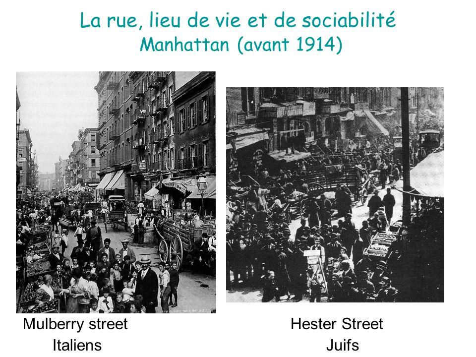 La rue, lieu de vie et de sociabilité Manhattan (avant 1914)