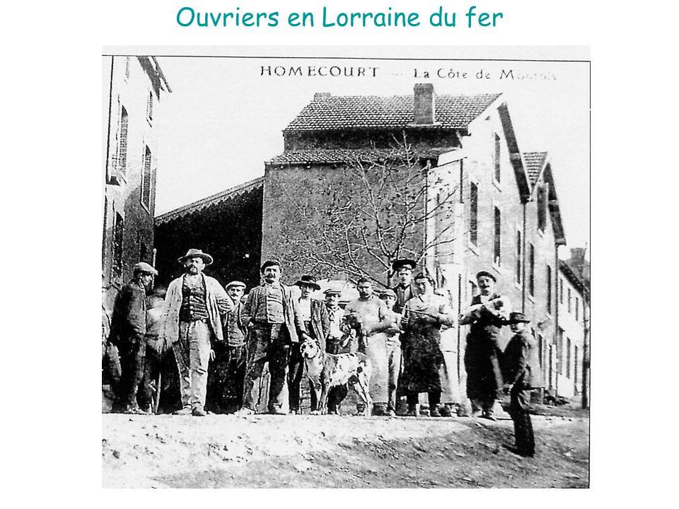 Ouvriers en Lorraine du fer