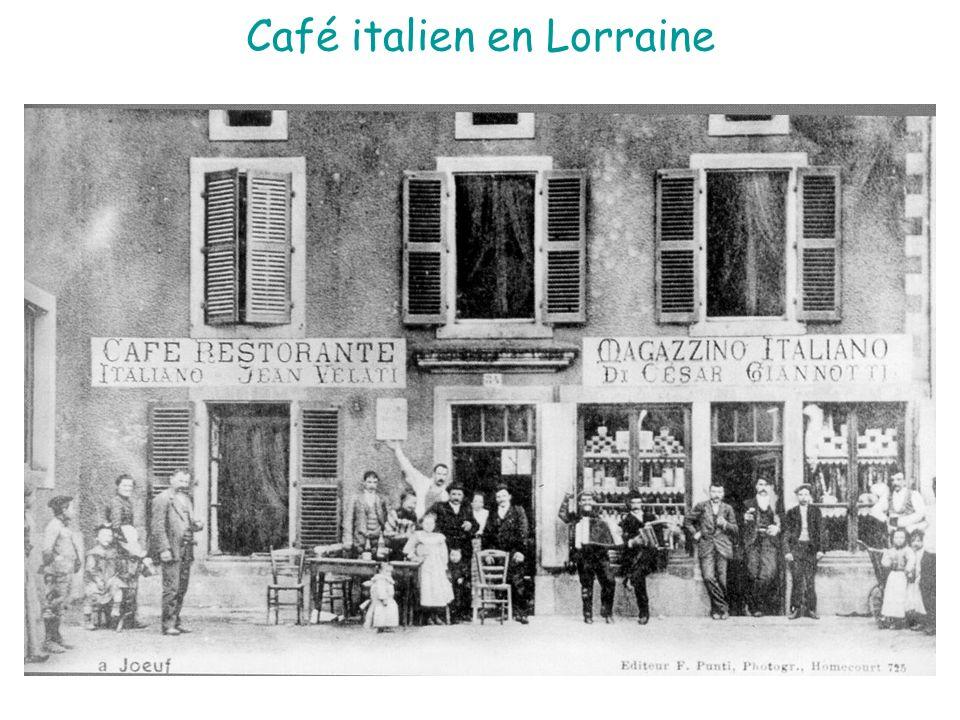 Café italien en Lorraine