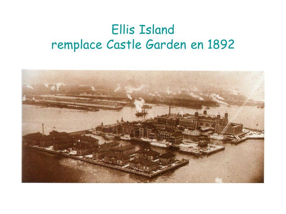 Ellis Island remplace Castle Garden en 1892