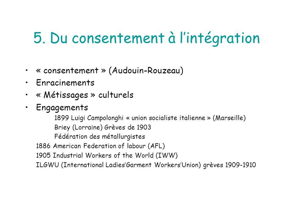 5. Du consentement à l'intégration