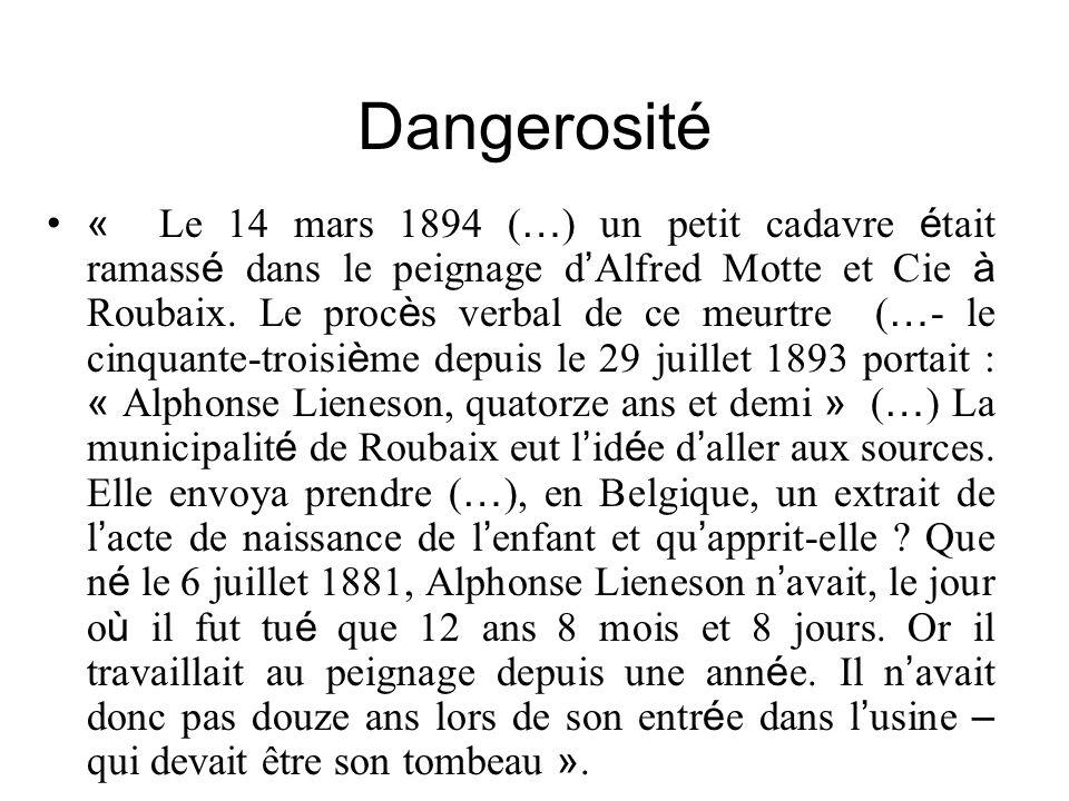 Dangerosité
