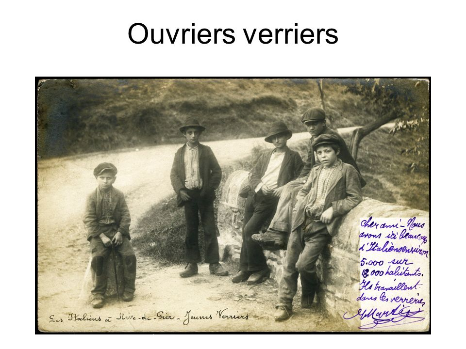 Ouvriers verriers