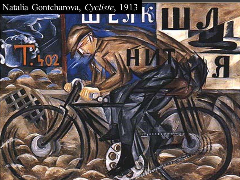 Natalia Gontcharova, Cycliste, 1913
