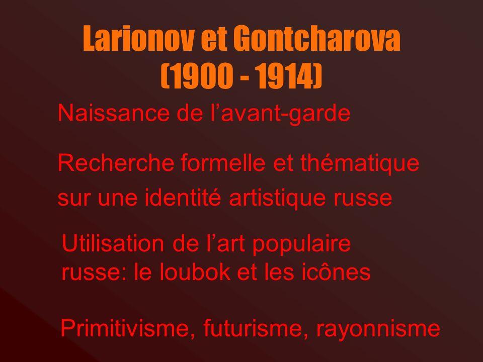 Larionov et Gontcharova (1900 - 1914)